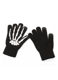 Skeleton Hand Touchscreen Gloves