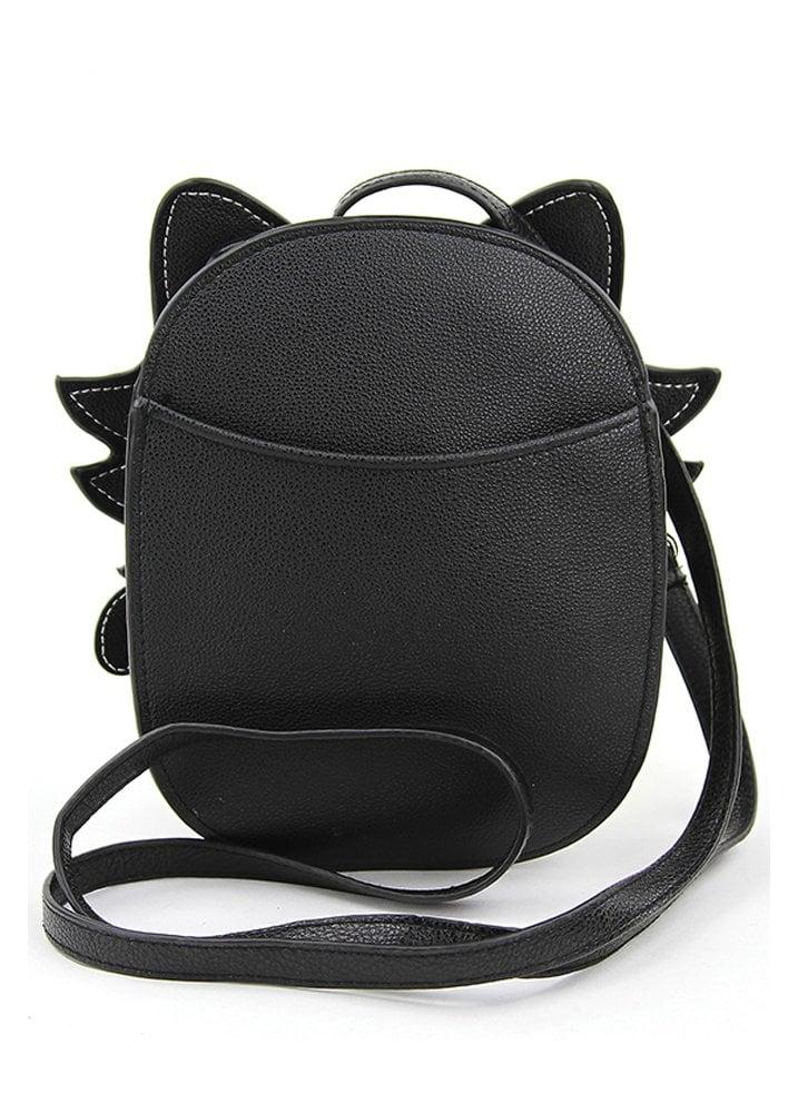 d85601c8c Sleepyville Critters Night Glow Sugar Skull Cat Crossbody Bag ...