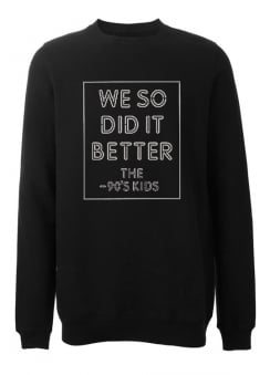 90's Kids Fleece Sweatshirt