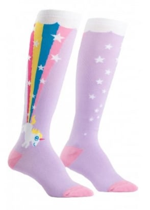Rainbow Blast Knee High Socks