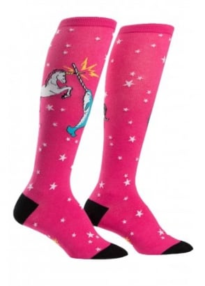 Unicorn vs. Narwhal Knee High Socks