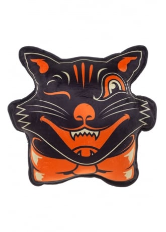 Sourpuss Clothing Black Cat Pillow