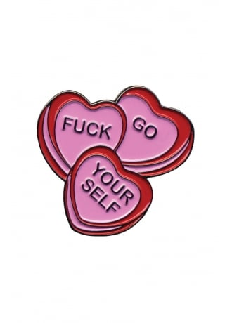 Sourpuss Clothing Candy Hearts Enamel Pin