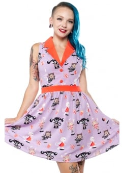Circus Cats Retro June Dress