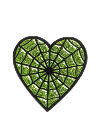 Sourpuss Clothing Web Heart Enamel Pin
