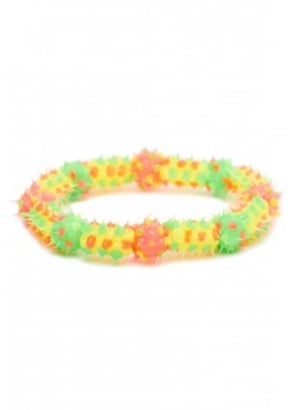 Spiky Rubber Bead Bracelet
