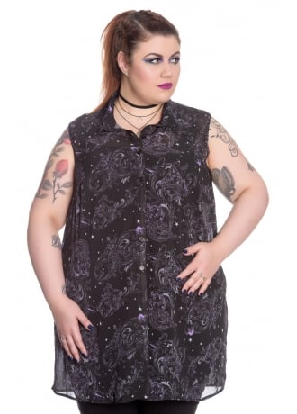 Spin Doctor Dark Sea Plus Size Gothic Blouse