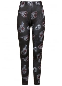 Dark Valentine Gothic Plus Size Leggings