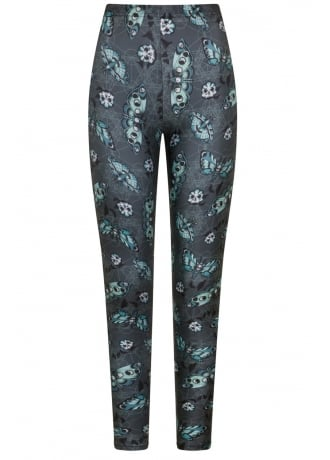 Spin Doctor Death's Head Gothic Leggings
