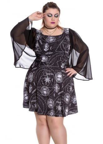 Spin Doctor Lucille Plus Size Gothic Dress Attitude Clothing