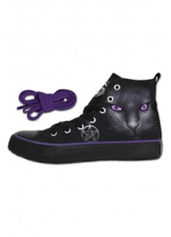 697fdb3208a1 Black Cat Gothic High Top Sneakers. Spiral Direct ...