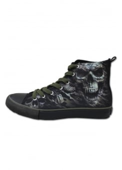 Camo Skull Gothic High Top Sneakers
