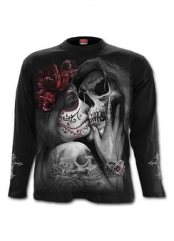Dead Kiss Long Sleeve Gothic T-Shirt