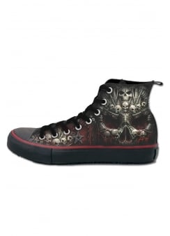 Death Bones Gothic High Top Sneakers