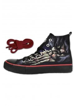 569645f8a Foot Bone Gothic High Top Sneakers
