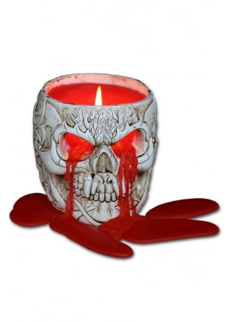 Spiral Direct Goth Skull Scented Candle Holder