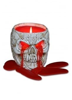 Goth Skull Scented Candle Holder