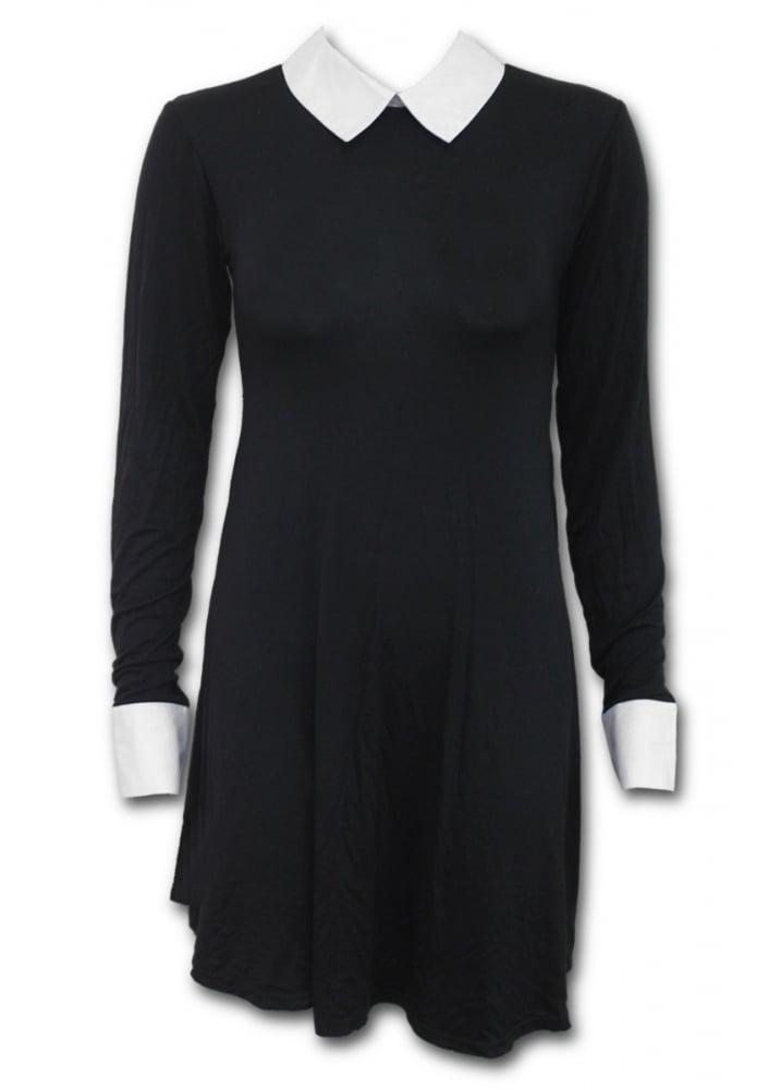 b304f0d5030 Spiral Direct Gothic Rock Peter Pan Collar Dress