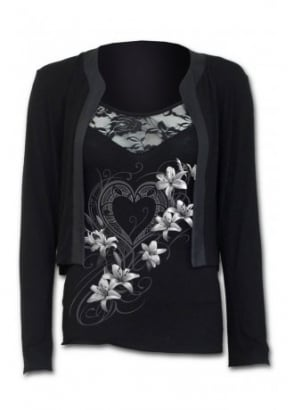 Pure Of Heart 2 In 1 Lace Vest Cardigan