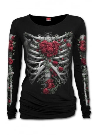 Spiral Direct Rose Bones Baggy Gothic Top