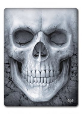 Solemn Skull Fleece Blanket