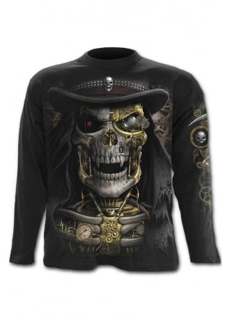 Spiral Direct Steam Punk Reaper Long Sleeve Gothic T-Shirt
