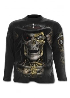 Steam Punk Reaper Long Sleeve Gothic T-Shirt