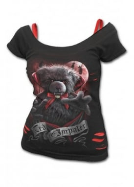 Ted the Impaler 2 In 1 Ripped Top