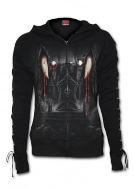 Vamp Fangs Lace-Up Zip Hoody