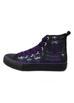 Waisted Corset Gothic High Top Sneakers