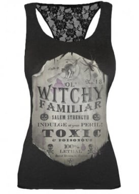 Witchy Familiar Racerback Lace Top