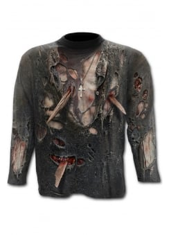 Zombie Wrap Allover Long Sleeve T-Shirt