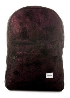 Burgundy & Black Velvet OG Backpack