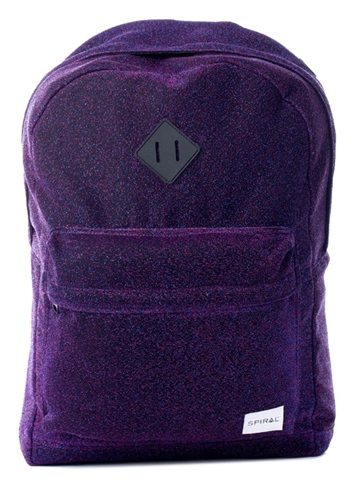 1b708573979 Spiral UK Textured Glitter Violet Backpack | Attitude Clothing