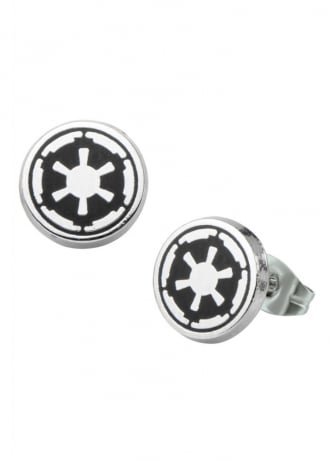 Star Wars  Galactic Empire Symbol Stud Earrings
