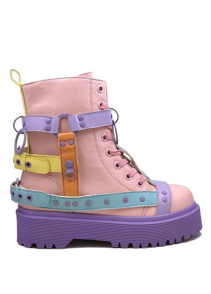 ed5e049ba4b Strange Cvlt Disorder Pastel Bondage Boot