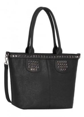 Studded Shoulder Handbag