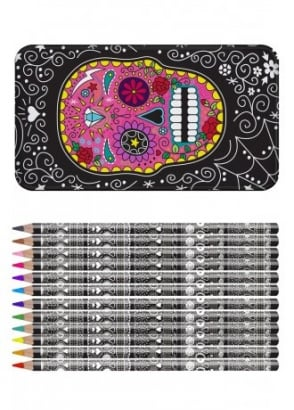 Sugar Skull Pencil Tin Set