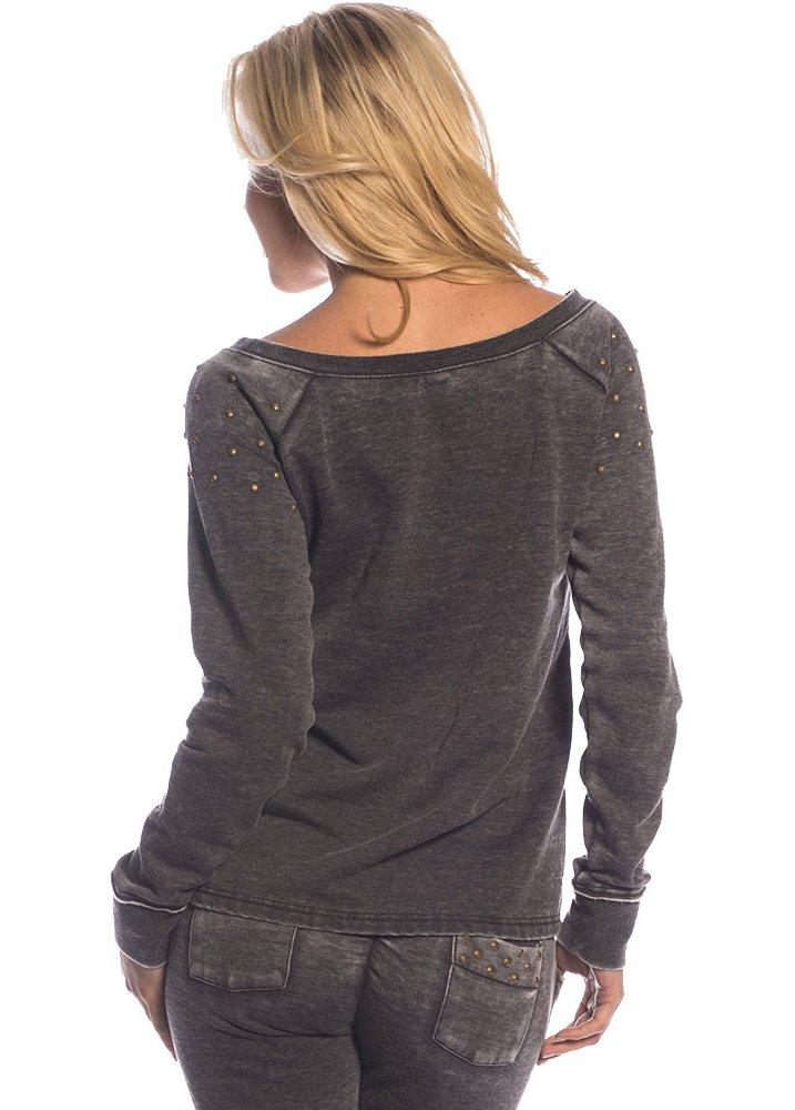 sullen clothing studded burnout fleece top attitude clothing