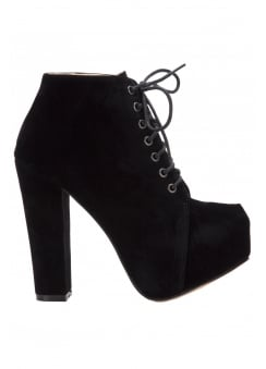 Synthetic Suede Ankle Boot