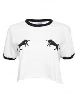 Black Glitter Unicorn Top