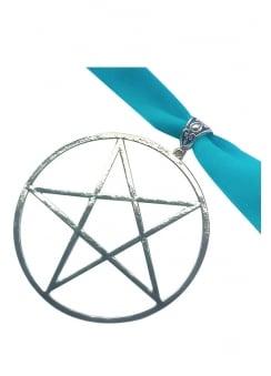 Turquoise Pentagram Choker
