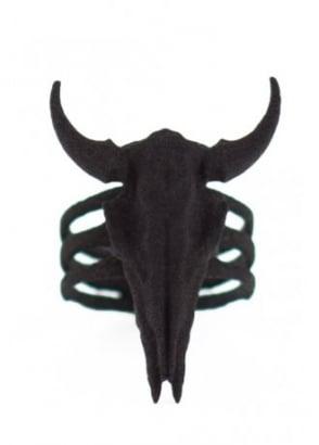 Bison Skull And Bones Ring
