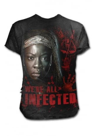 The Walking Dead  All Infected Michonne Ripped T-Shirt