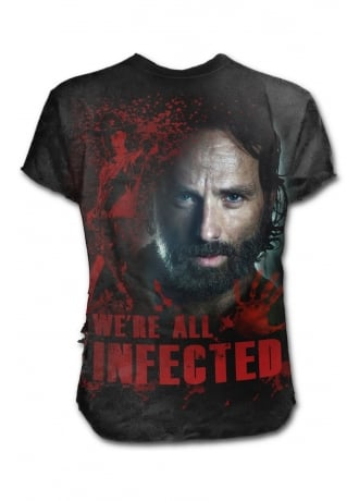 The Walking Dead  All Infected Rick Ripped T-Shirt