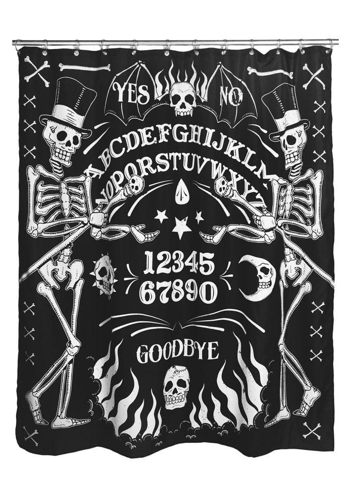 Too Fast Skeleton Ouija Board Tattoo Shower Curtain