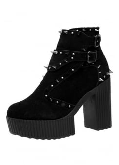 Black Suede Spiked Yuni Boot
