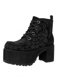 Black Velvet Burnout 4 Eye Nosebleed Boot