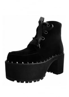 Black Velvet Spike Welt Nosebleed Boot