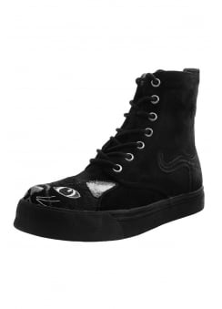 Faux Suede Kitty Combat Boot Sneaker